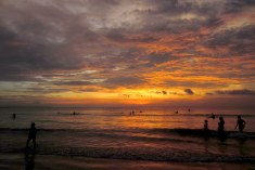 Beautiful sunset from Legian Beach.
