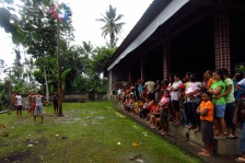 A village celebrates New Year's with some fun.