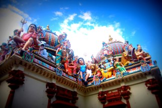 Hindu Temple in Chinatown. Singapore.