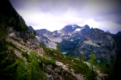Cascade mountains in Washington state, USA. 2009.