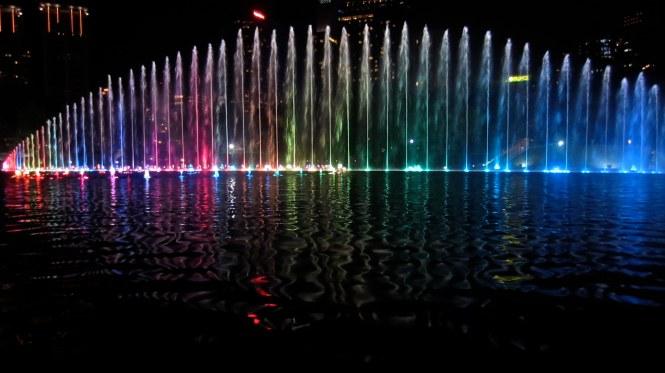 Colorful fountain in Kuala Lumpur
