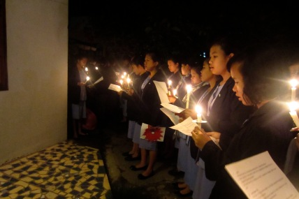 Caroling at 4am in Balige to start the Advent season.