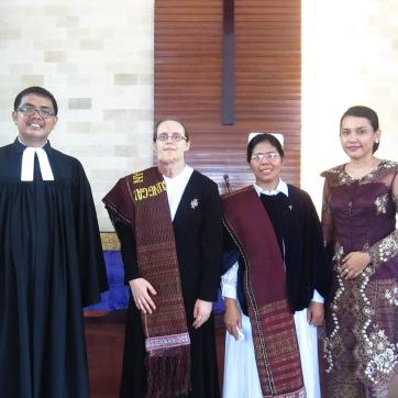 Preaching in Medan.