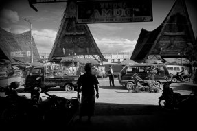 Across from the market in Balige, Indonesia