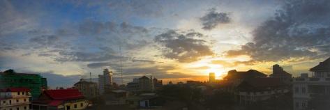 Sunset in Phnom Penh, Cambodia