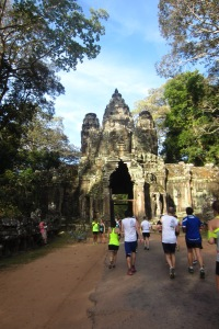 Running in the Angkor Wat International Half Marathon
