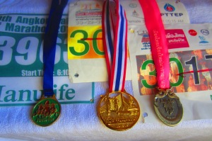 I finished 3 half marathons in 3 consecutive weekends.