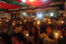 Christmas Eve worship in Medan, Indonesia.