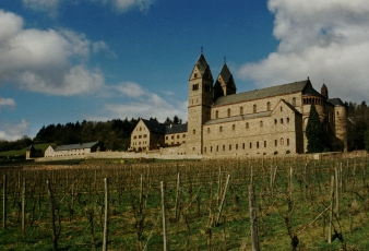 The Abbey of St. Hildegard of Bingen and the abbey vineyard.