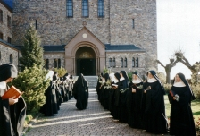 Preparing for Palm Sunday Abbey of St. Hildegard of Bingen, Germany