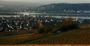 Looking toward Ruedesheim from the Abbey of St. Hildegard of Bingen.