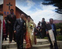 Wedding in Sidamanik village