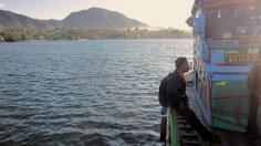 Lake Toba at Balige's harbor