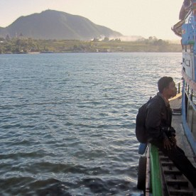 Lake Toba at Balige's harbor, Indonesia