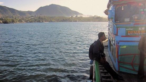 Lake Toba at Balige's harbor, Indonesia