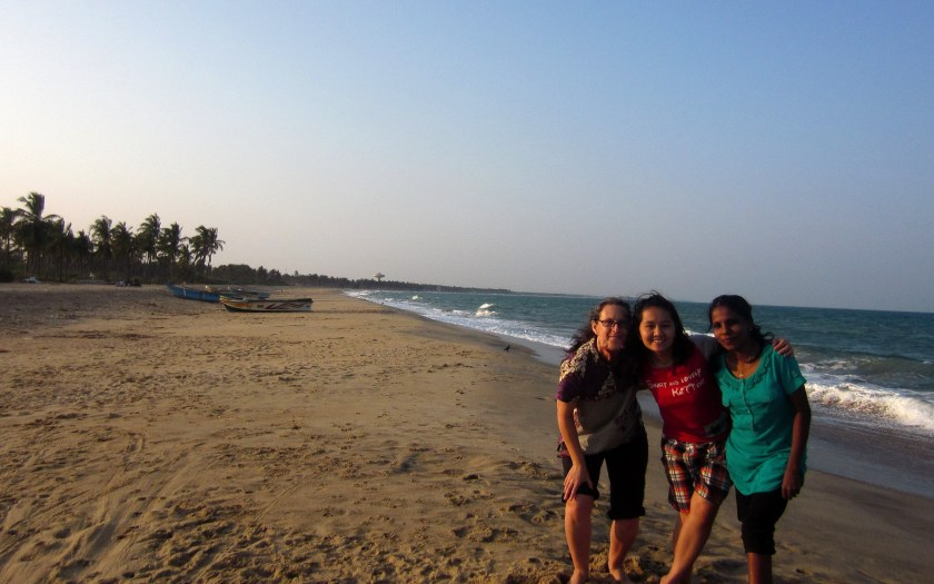 On the beach in Kalmunai, Sri Lanka
