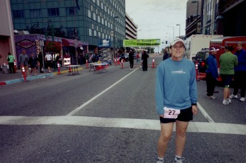 At the start. Humpy's Ale House marathon.