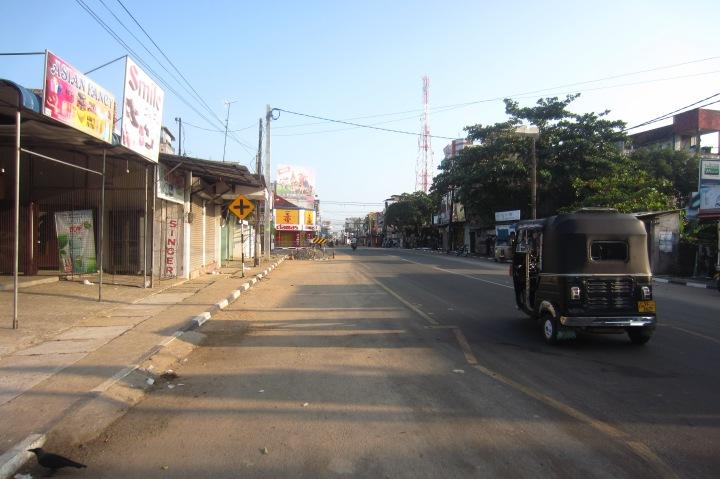 Kalmunai, Sri Lanka, on a quiet Friday when the local Muslim population is at prayer.