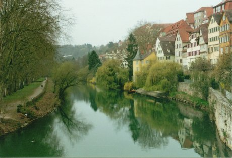 Neckar river in Tuebingen, Germany