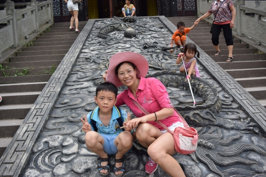 JinLong temple, host mother and friend