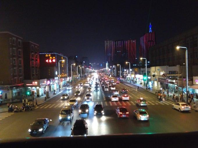 busy street in central Chengdu