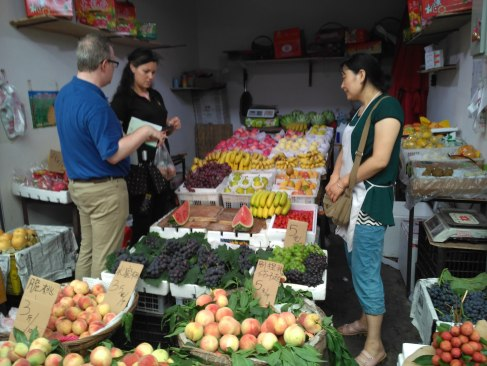 Bargaining at the market with our minimal language skills