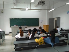 "My classroom for the 2 week ""model school"" at Chengdu University"