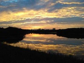 Sunset at QingLong Lake