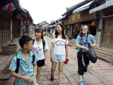 Enjoying Luodai, a touristy ancient town