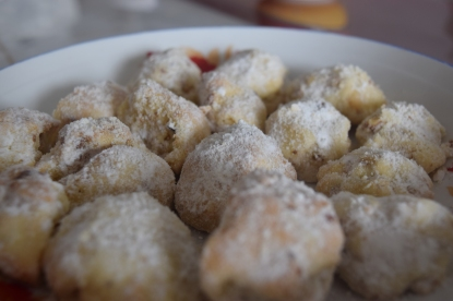 I baked sugar cookies, spritz, and russian teacakes
