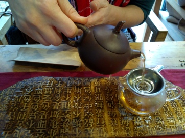 Learning about Chinese tea culture.