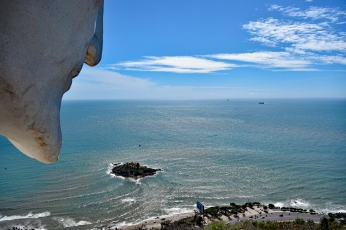 View from the Jesus statue in Vung Tau, Vietnam