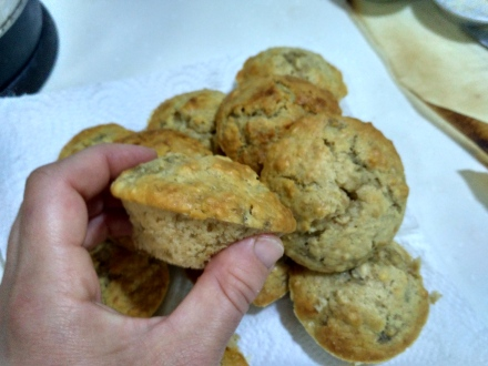 My mini banana oat muffins