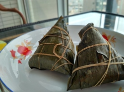 Zongzi, traditional food for dragon boat festival.