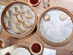 Dumplings at the amazing Din Tai Fung restaurant.
