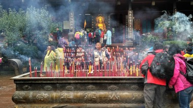 At the Wannian Temple