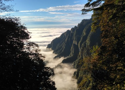 Hiking on Mt. Emei, China
