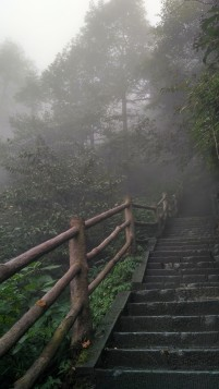 Hiking on Mt. Emei.