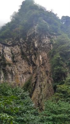 Hiking on Mt. Emei.