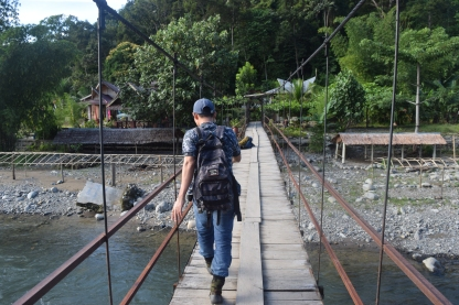 Trekking with a guide