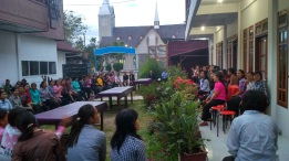 An evening with the students