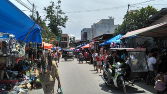 Friday is traditional market day in Balige