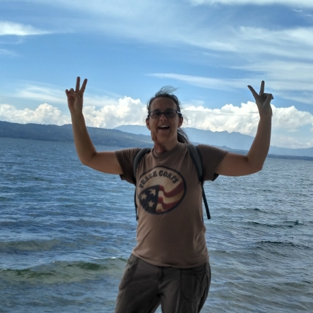 At the shore of Lake Toba in Balige, my home