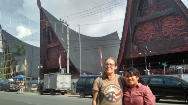 In front of the market in Balige
