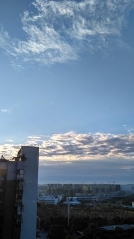 Rare blue sky