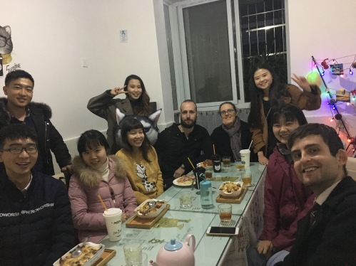 Thanksgiving dinner with students