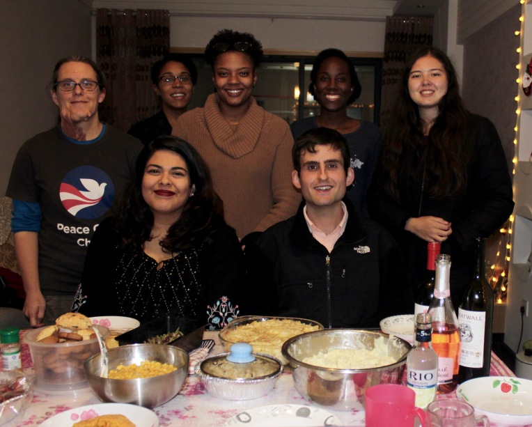 Thanksgiving with other volunteers