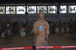Terracotta Warrior under restoration