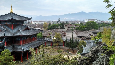 Mufu Palace, in the Old Town in Lijiang, Yunnan, China